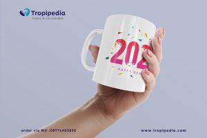 desain mug tahun baru