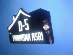 nomor rumah akrilik semarang